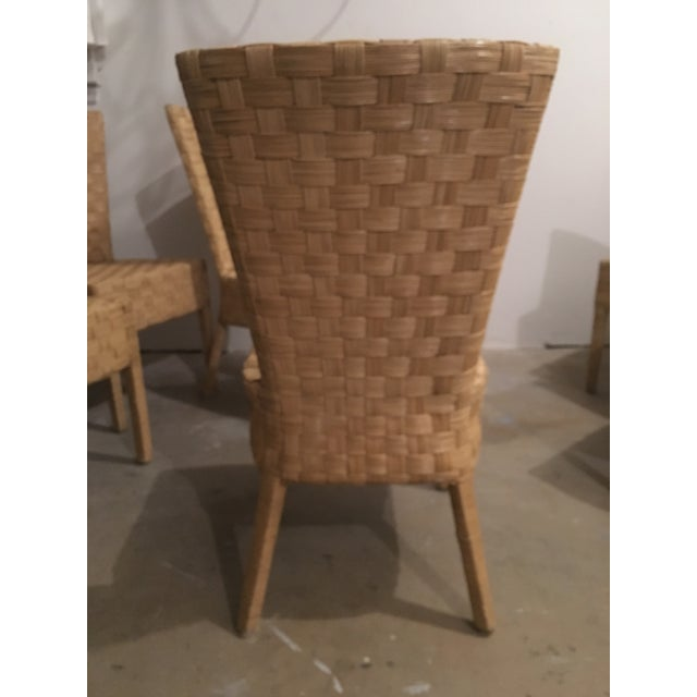 High-Back Wicker Side Chairs - Set of 6 - Image 3 of 5
