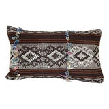 Image of Goat Hair and Wool Turkish Pillow Cover Hand Woven Vintage Kilim Pillow 14'' X 20'' (35 X 50 Cm) For Sale