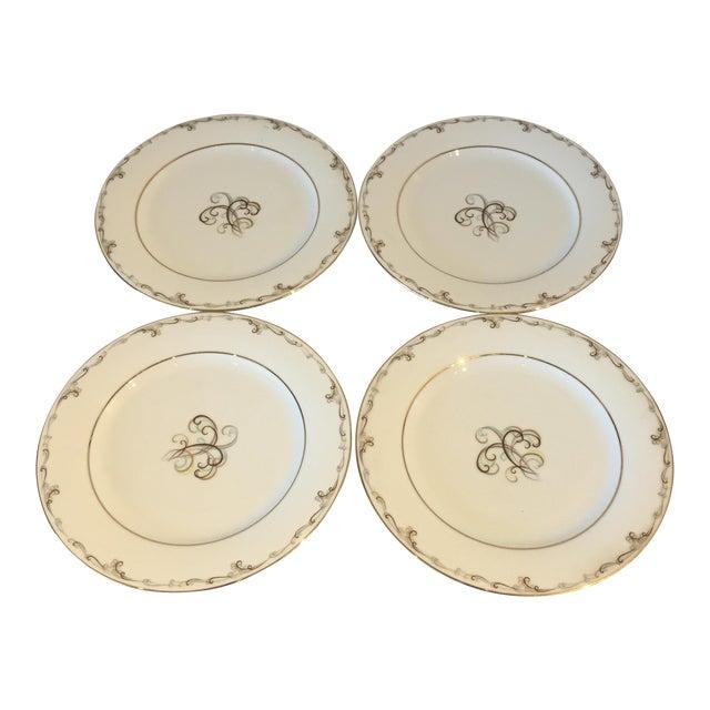Noritake Esteem Gold Rimmed Plates - Set of 4 - Image 1 of 5
