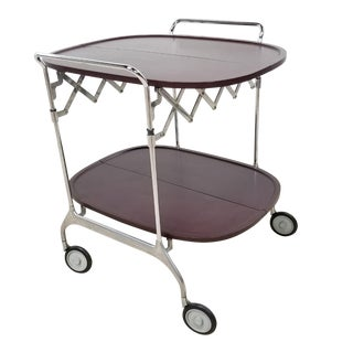 Mid Century Kartell Italian Trolley Cart Rolling Bar For Sale