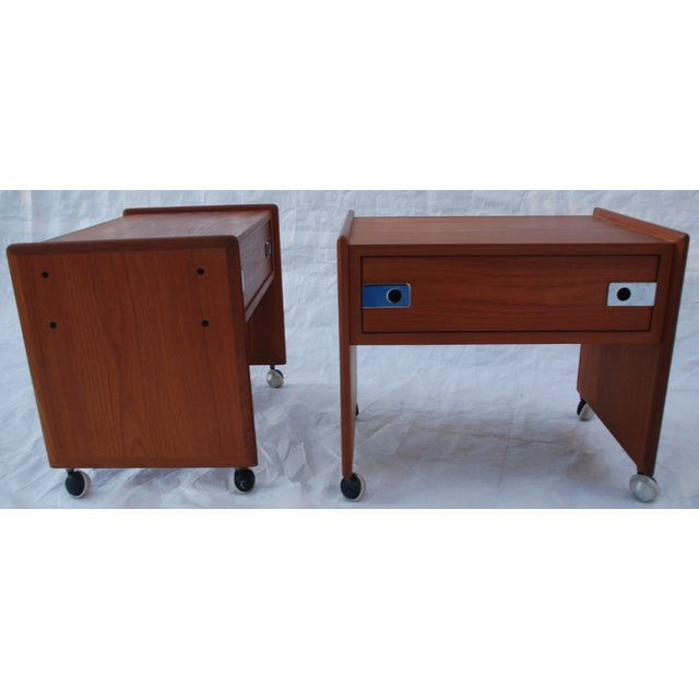 Mid Century Teak Night Stands - A Pair - Image 4 of 8