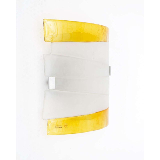 Mazzega Murano Glass Ceiling Lamp - Image 4 of 9