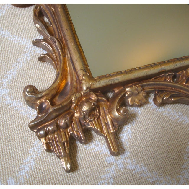 Late 20th Century Large Gold Chippendale Rococo Mirror For Sale - Image 5 of 7