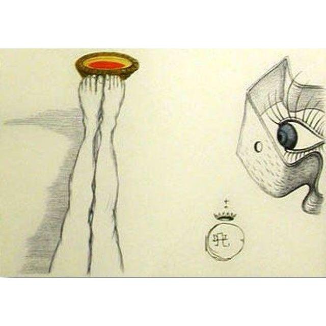 "Figurative Salvador Dali ""Un Ambigu Stimulant"" Héliogravure For Sale - Image 3 of 3"