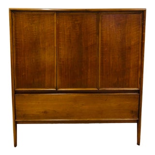 Vintage Mid Century Modern Drexel Parallel Armoire For Sale