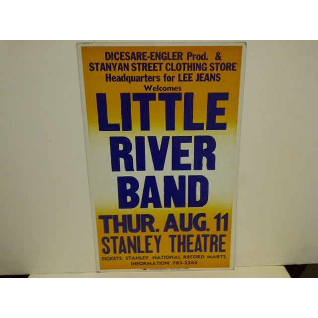 """Contemporary """"Little River Band"""" Vintage Concert Poster For Sale - Image 3 of 6"""