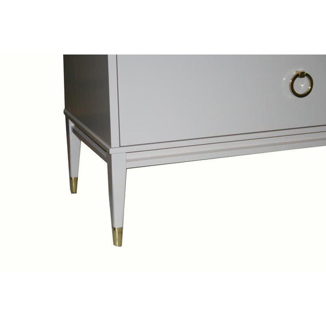 Customizable Lacquered Marble-Top Night Table For Sale In New York - Image 6 of 6