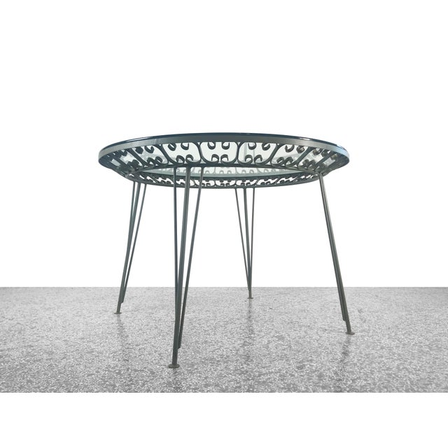 1960s Mid-Century Modern Arthur Umanoff Grenada Wrought Iron Outdoor Dining Table For Sale - Image 13 of 13