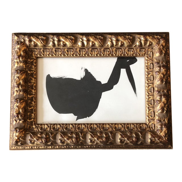 Original Vintage Robert Cooke 1970's Abstract Duck Painting Frame For Sale