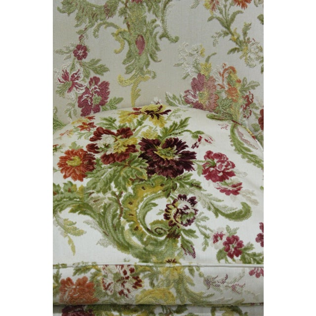 Baker Floral Tapestry Chair - Image 2 of 2