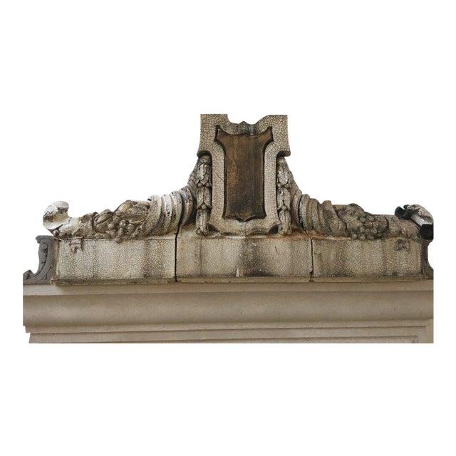 19th Century Antique Terra Cotta Mantel For Sale