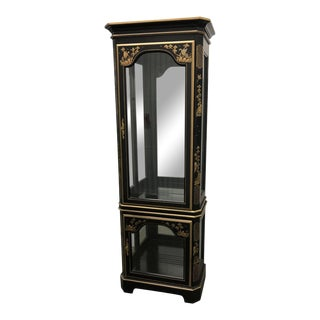 Late 20th Century Chinoiserie Style Curio Display Cabinet For Sale