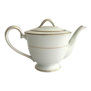 Vintage Mid-Century Noritake Dawn Gilt Edged Teapot For Sale