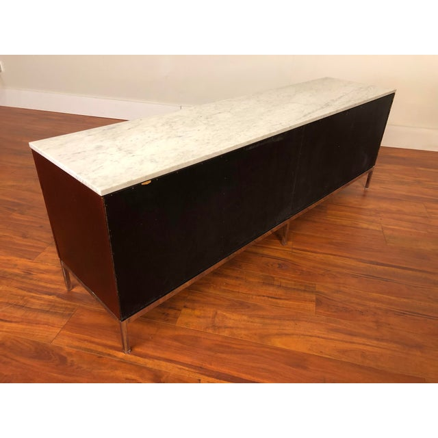 Mid-Century Modern Florence Knoll Four Position Credenza With Marble Top For Sale - Image 3 of 13