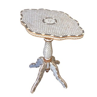 Mother of Pearl Inlay Table For Sale
