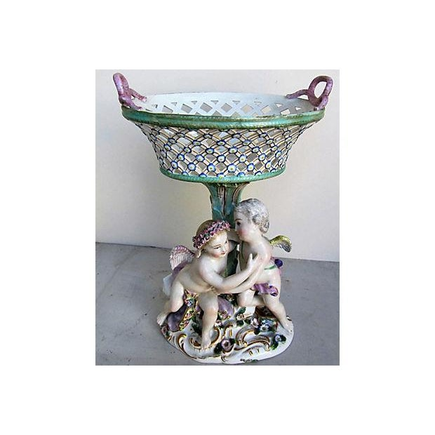 Traditional Meissen Cherub Compote For Sale - Image 3 of 6