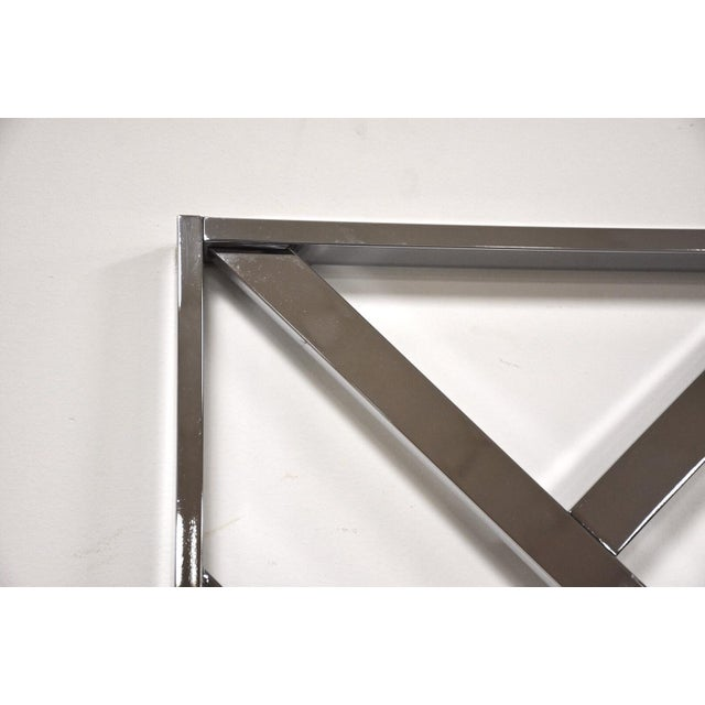 Milo Baughman Style King Chrome Headboard For Sale In Boston - Image 6 of 8
