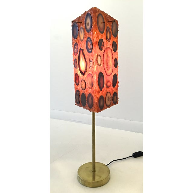 French Agate and Resin Table Lamp - Image 2 of 11