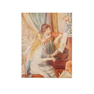 "1950s Auguste Renoir ""Two Girls at the Piano"" First Edition Photogravure For Sale"