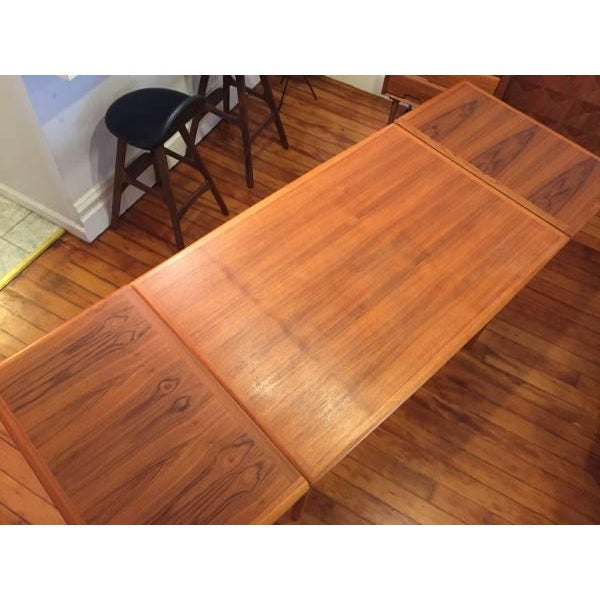 Mid-Century Modern Draw Leaf Dining Table - Image 4 of 6