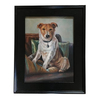 English Jack Russell Terrier Painting For Sale