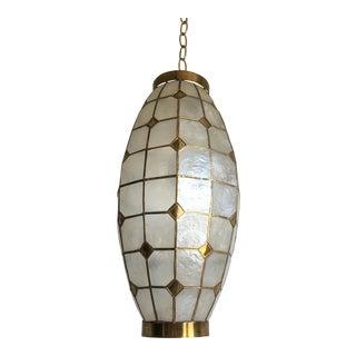 1960s Elongated Capiz Lantern For Sale