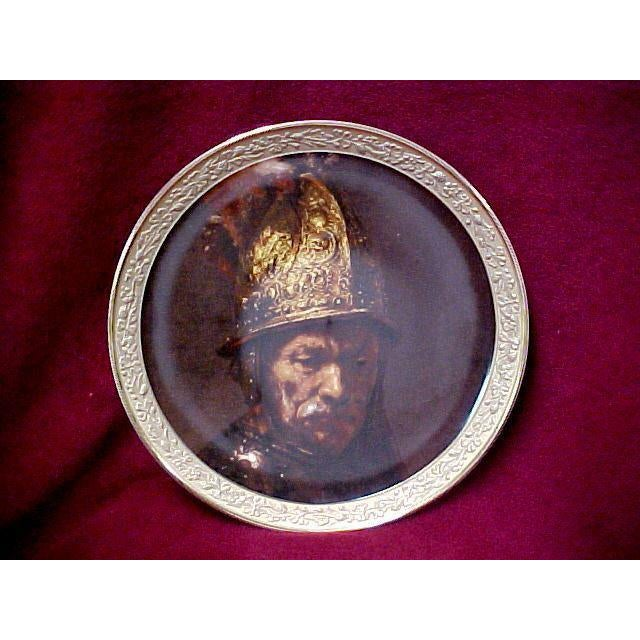 """Gorham Gallery of the Masters Plate """"Man With a Gilt Helmet"""", 1647 For Sale - Image 6 of 6"""