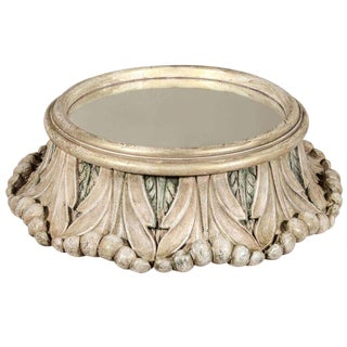 Round Painted Mirrored Table Plateau For Sale