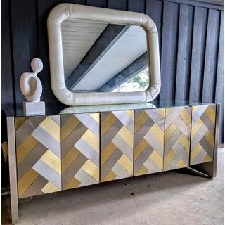 80s Contemporary Ello Brass Herringbone Dresser / Credenza Preview