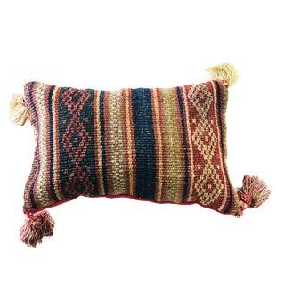 "Neck Pillow W/19th Tribal Caucasian Jajin Fragment.10"" by 6.5"" For Sale"
