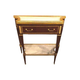 Russian Neoclassical Style Console/Server or Commode With Marble Top For Sale