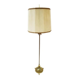 Antique Vintage French Brass Three-Way Neo-Classical Floor Lamp For Sale