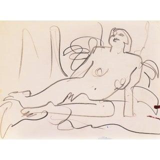 'Reclining Nude' by Victor DI Gesu, Paris, Louvre, Académie Chaumière, California Post-Impressionist, Lacma For Sale