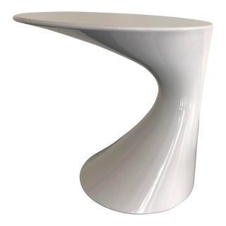 Bracher for Zanotta White Lacquer Contemporary Side Table For Sale
