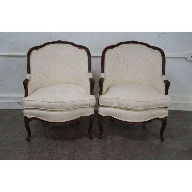 Antique French Louis XV Style Bergere Chairs - Pair - Image 2 of 10