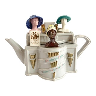 Vintage Richard Parrington Novelty Teapot Mode De Paris For Sale