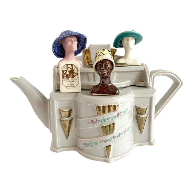 Vintage Richard Parrington Novelty Teapot Mode De Paris For Sale