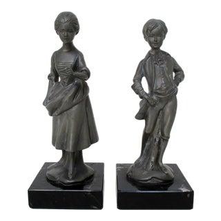 English Pewter Figurines - Set of 2