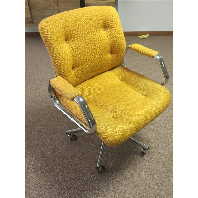 Vintage Steel Case Office Chair - Image 2 of 3