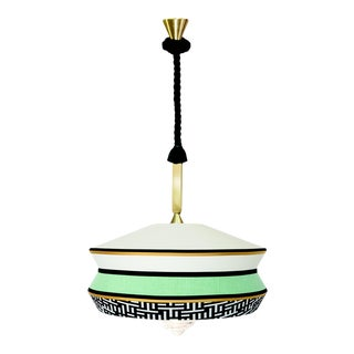 Contardi Calypso Antigua XL Outdoor Pendant Light in Moss Green and Mint For Sale