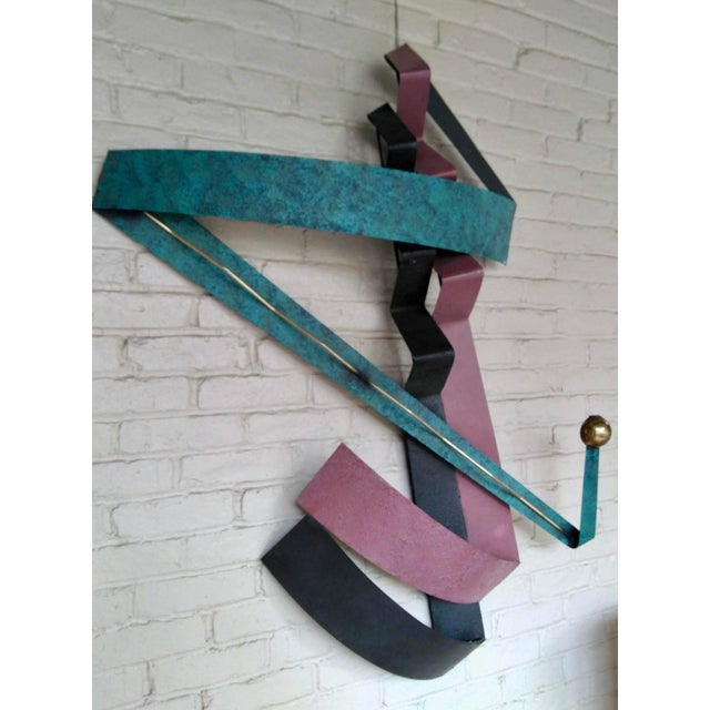 Metal C. Jere 1980s Contemporary Wall Sculpture For Sale - Image 7 of 12