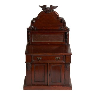 Late 19th Century Victorian Salesman Samples Chest With Mirror For Sale