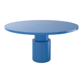 Contemporary 100C Dining Table by Orphan Work, 2020, Blue For Sale