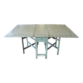 20th Century Swedish Painted Drop Side Dining Table For Sale