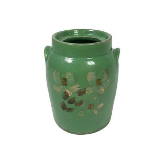 Hand Painted Clay Jar For Sale