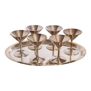 Art Deco Silver Plate Cocktail Set by WMF Germany For Sale