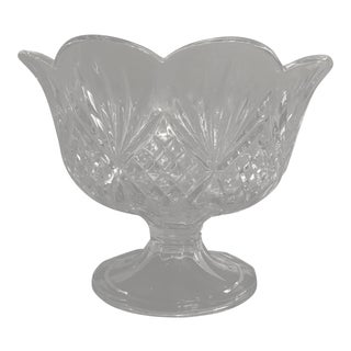 Boho Chic Crystal Footed Trifle Bowl For Sale