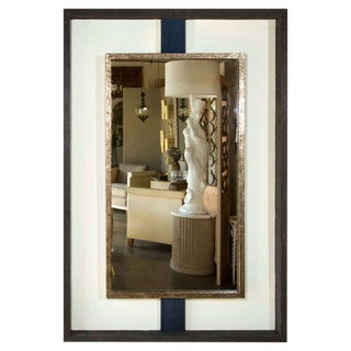Paul Marra Negative Space Mirror Distressed Finish & Horsehair For Sale