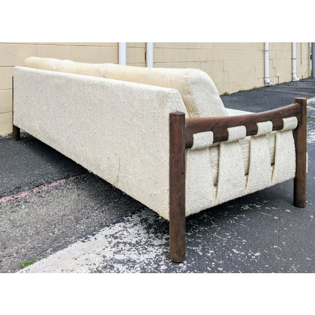 1960s Walnut Frame Adrian Pearsall-Style Sofa by Craft Associates For Sale - Image 5 of 10