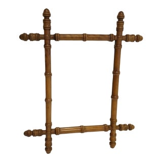 19th Century Faux Bamboo Mirror For Sale